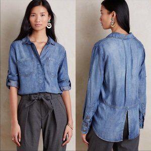 Anthropologie Cloth & Stone Chambray Shirt Sz S